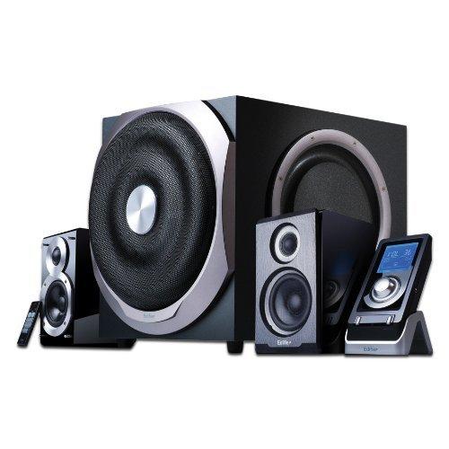 EDIFIER S730D 2.1 Lautsprechersystem (300W) mit Infrarot-Fernbedienung und kabelgebundenem Controller [ERDBEBENMASCHINE]