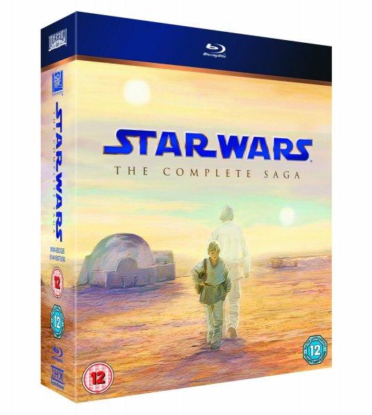 Star Wars Blu Ray Box - komplette Saga - ca. 55 Euro - amazon.co.uk