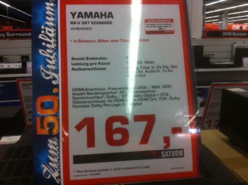 Yamaha RX-V367 Einsteiger AV Receiver für 167 € [Lokal? Saturn Bremen Habenhausen]