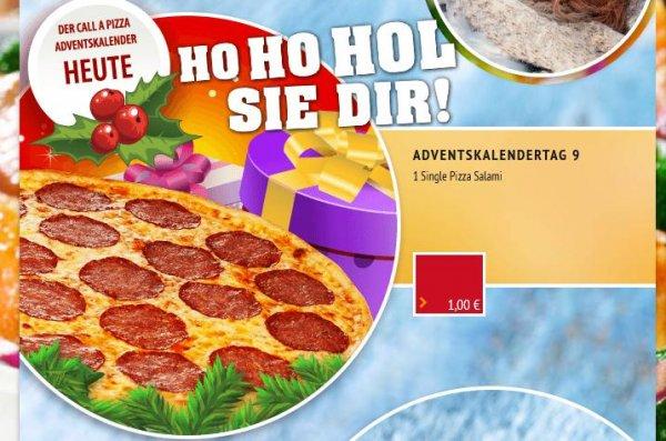 Call a Pizza Adventskalender - Pizza Salami, Single nur 1€