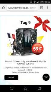 Assassins Creed Unity Notre Dame Edition PS4 59,99 € nur heute bei gamestop.
