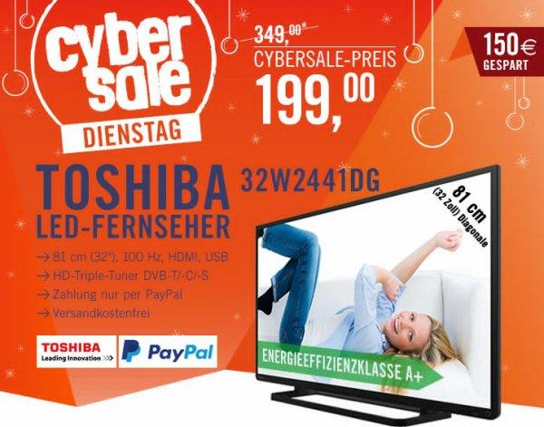 [Cyberport.de Cyberdienstag nur Paypal] Toshiba Fernseher 32W2441DG