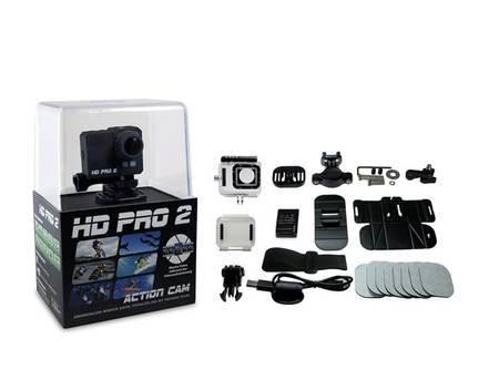 HD PRO 2 Action Cam (Full HD, 60 fps, 20 Megapixel, 2 Zoll LCD Display, WiFi, gratis App) schwarz