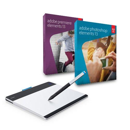 Wacom Intuos Pen S + Adobe Photoshop Elements 13 + Adobe Premiere Elements 13 für 82,90