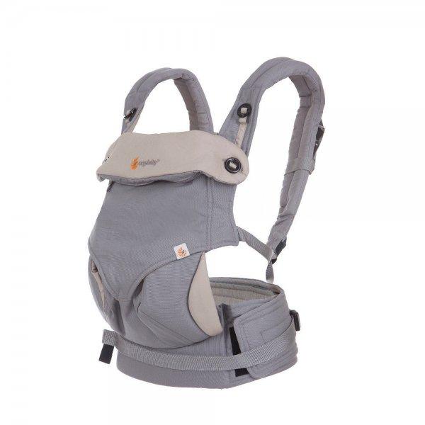 ERGObaby Babytrage 360 Grey/taupe Bauchtrage Rückentrage Carrier Tragesystem NEU