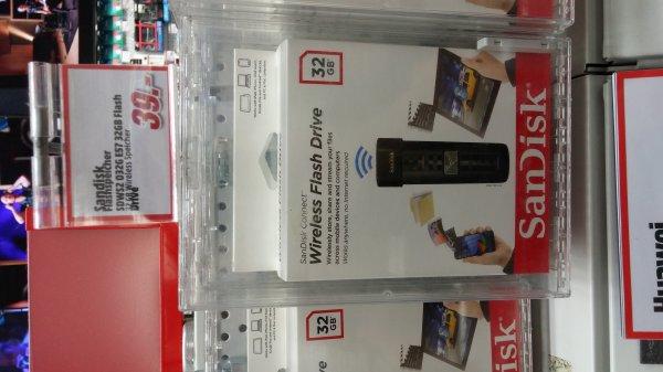[lokal] SanDisk Connect Wireless Drive 32/16GB 29% bzw. 40% billiger