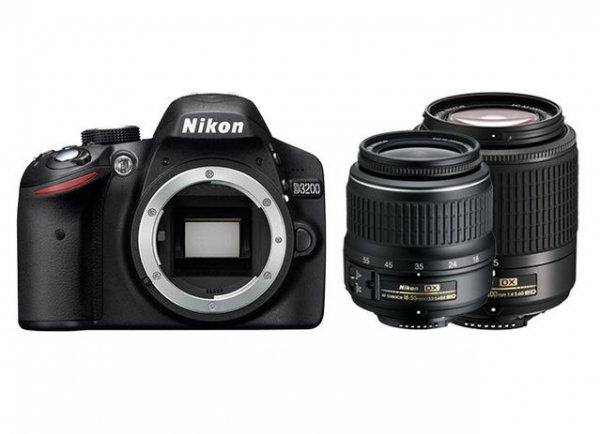 Nikon D3200 Kit 18-55 mm + 55-200 mm für 444€ @Expert
