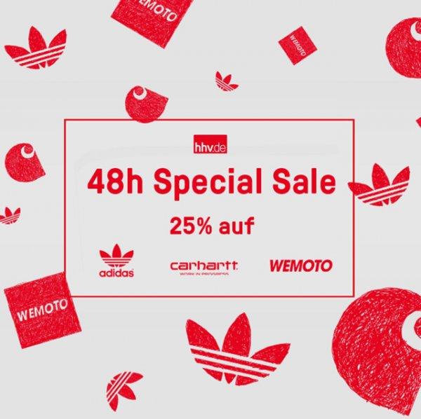 Hhv.de 25 % Rabatt auf das gesamte Sortiment von Carhartt, adidas & Wemoto!