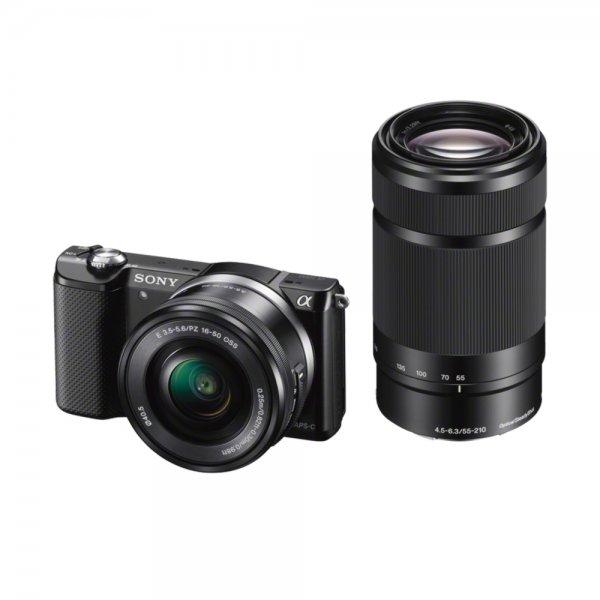 [Amazon.fr] Sony Alpha 5000 ILCE5000YB.CEC mit 16-50mm + 55-210mm Objektiv für 435,44€