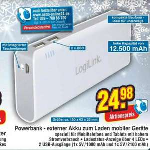 [Netto] ab Donnerstag Powerbank 12500mAh LogiLink