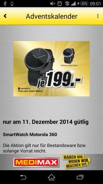 MediMax Gera Smartwatch Motorola Moto 360 - 199,- Euro  ** Nur am 11.12.14 **