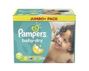 Windel Deal Pampers Baby Dry 3, 4, 4+, 5@allyouneed 39,14 € --> 16,4 Cent je Windel