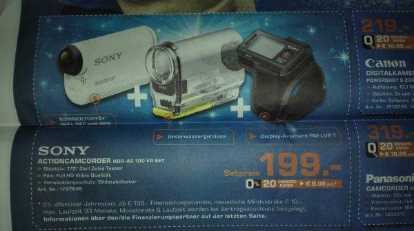 (Saturn Stuttgart) SONY Action Cam HDR-AS100 VR inkl. Unterwassergehäuse und RM-LVR1