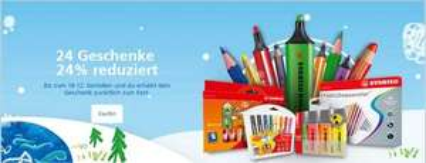 STABILO Onlineshop: 24 Geschenke - 24% reduziert
