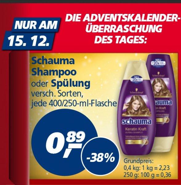 [ REAL ]  Schauma Shampoo oder Spülung verschiedene Sorten nur am Montag - 15.12.2014 für 89 Cent