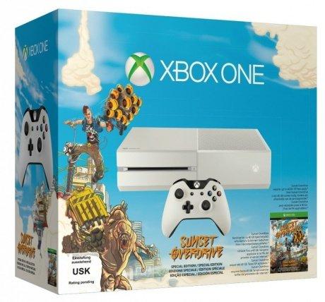 Xbox One (ohne Kinect) weiss inkl. Sunset Overdrive +119,70 € Superpunkte ab 384,99€ inkl. Versand nach Deutschland @ Rakuten.at