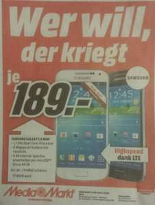 [Lokal] Samsung Galaxy S4 Mini @Media Markt Neuss