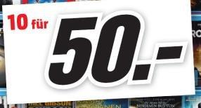 [LOKAL Minden/Porta-Westfalica] 10 Blu-Rays für 50€ bei Mediamarkt