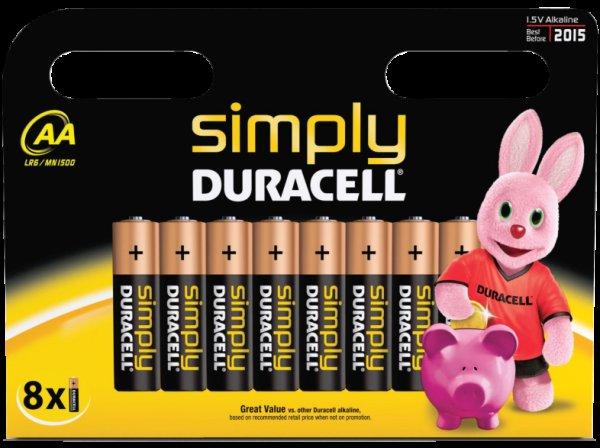 DURACELL 8er AA Batterie