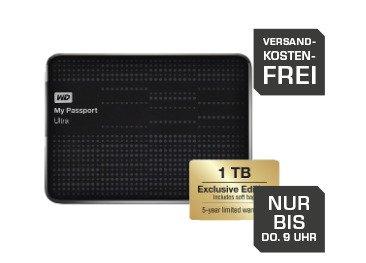 [Saturn] Western Digital My Passport Ultra 1 TB Exclusive Edition mit 5 Jahren Garantie inkl. Schutzhülle für 59€ incl.Versand!