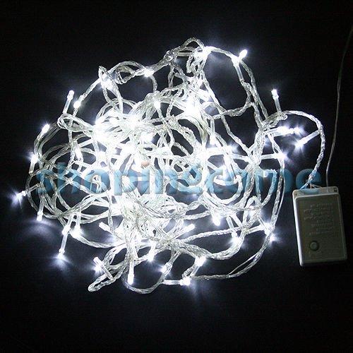 [ebay] Weiß-10 Meter-100 Stück LED-Lampen für Weihnachtsbaum usw...IP44 wasserfest