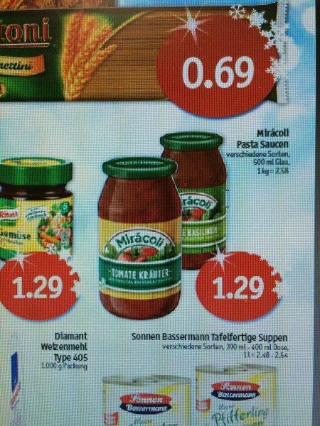 Miracoli Pasta Saucen 0,29€ (mit Coupon ) - Ab KW 51 Sky-Märkte (Coop)