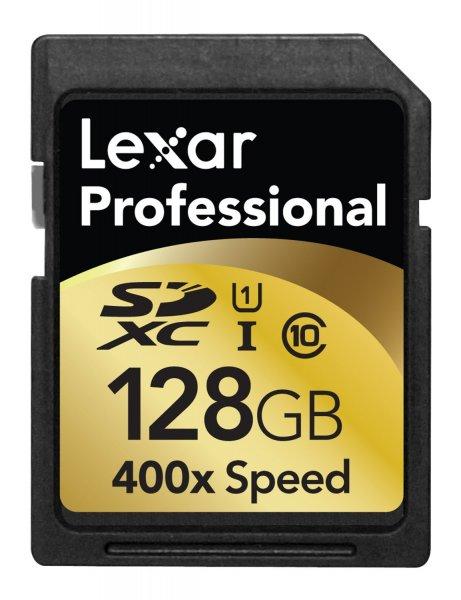 Lexar SDXC Professional 128GB Class 10 UHS-I 400x (LSD128CTBEU400) inkl. Vsk für 65,41 €  > [amazon.fr]