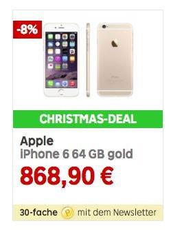 (Rakuten) Apple iPhone 6 64 GB gold für 868,90 Euro + 260 Euro in Superpunkten