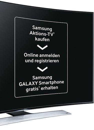 Samsung Aktions-TV: ein Samsung GALAXY S5 oder ein Samsung GALAXY S5 mini gratis zu den Aktions-TVs