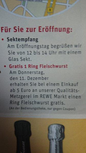 [lokal FFM] Ein Ring Fleischwurst beim Einkauf über 5 Euro an der Fleischtheke