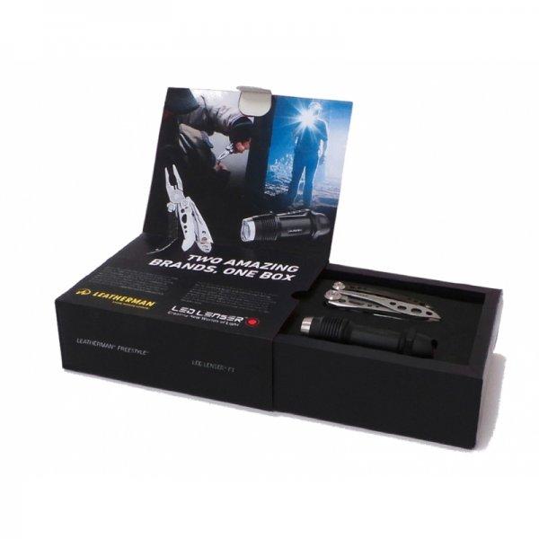Combo-Box Led Lenser F1 Extreme Power LED Taschenlampe und Leatherman Freestyle