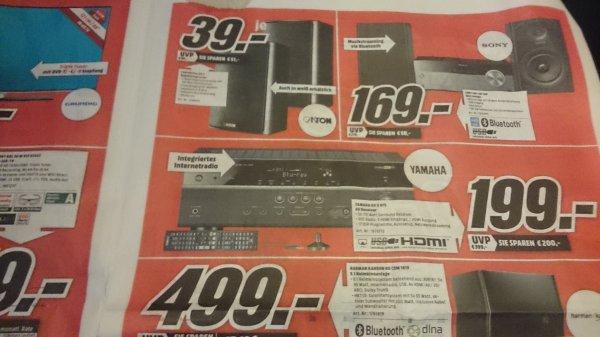 Yamaha RX-V475 Netzwerk AV-Receiver (5.1-Kanal, 115 Watt pro Kanal, MHL, DLNA, Dolby TrueHD, HDMI, AirPlay, USB) in schwarz 199,00 euro Wuppertal Lokal Media-Markt