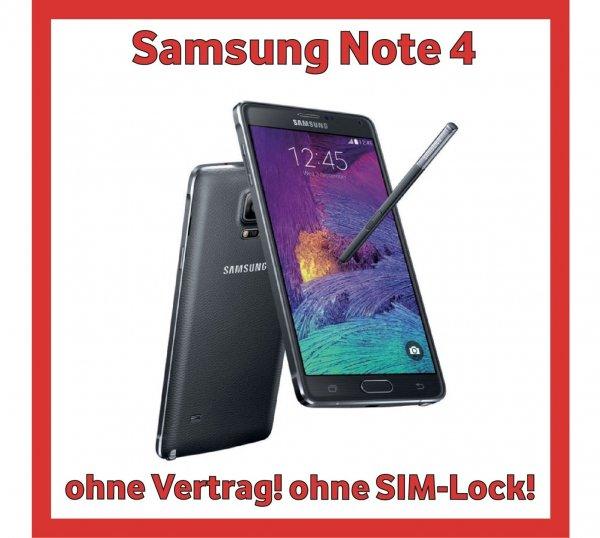 Samsung Galaxy Note 4 für zur Zeit unschlagbare 579,99