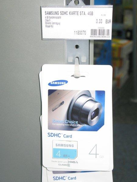 [Conrad - Offline] Samsung SDHC 4GB Karte für 3,33 €