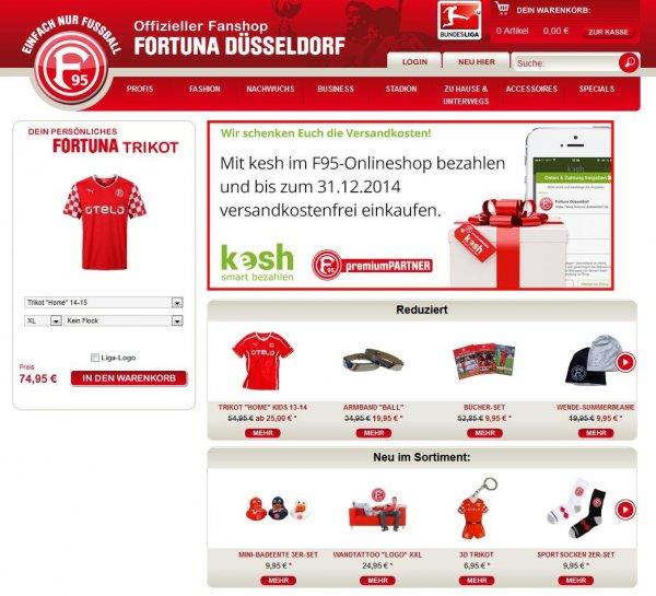 Versandkostenfrei bei Fortuna Düsseldorf einkaufen