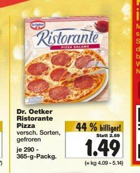 [KAUFLAND BY+BW (KW51)] Dr. Oetker Ristorante Pizza für 1,49€ / 1,66€