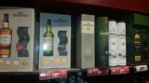 Glenlivet 12 Jahre im hit für 21 euro inkl 2 gläser