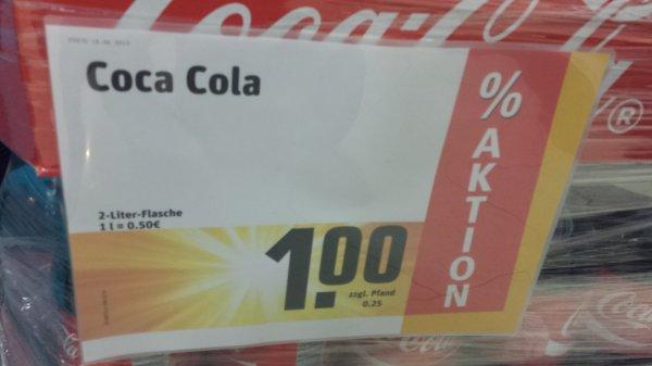 [Lokal? RWE MUC] 2 Liter Coka Cola für 1€