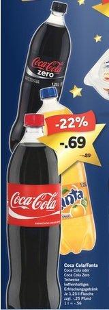 [Lidl ab 15.12.] Coca Cola/Fanta oder Zero 1,25l für 0,69€