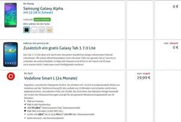 Vodafone Smart L (24 Monate) für effektiv €8,75 im Monat @preis24.de
