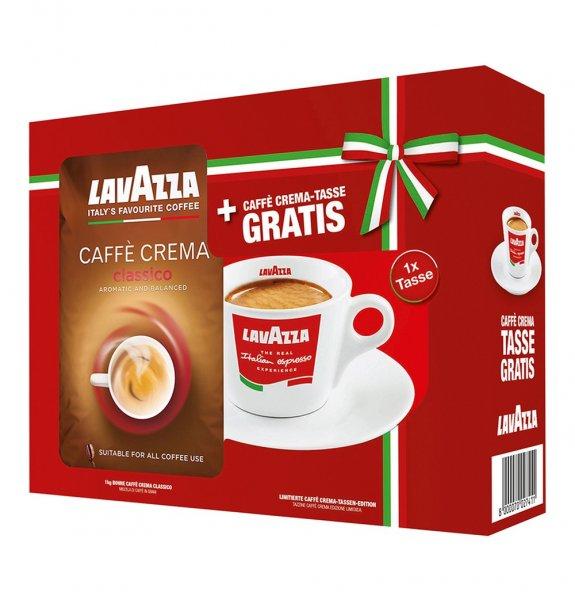 4xLavazza Caffè Crema Classico ganze Bohnen 1000 g Plus 4x Gratis Espresso Tasse