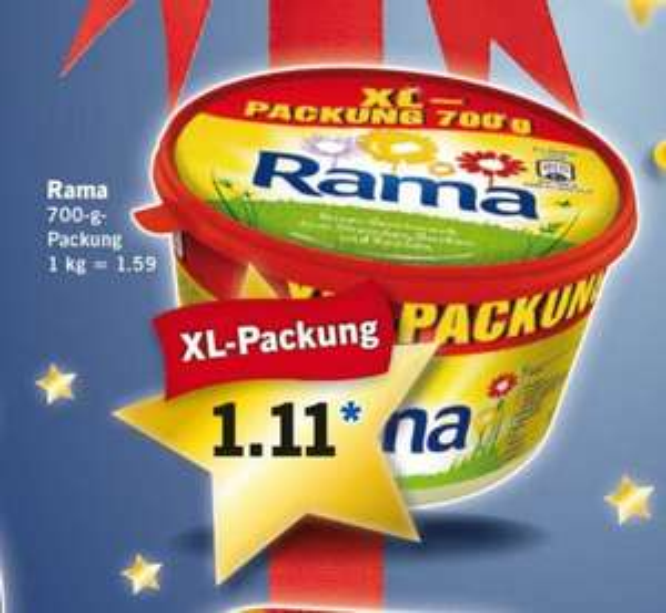 Rama 700g für 1.11€,50%Ersparnis[Lidl]