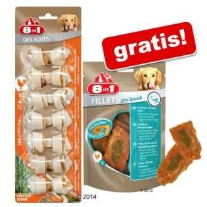 [zooplus/scondoo] Tetra 8in1 Delights Kauknochen S + 8in1 Fillets Pro Breath L für zusammen 1,99€, abzüglich Scondoo Cashback sogar nur 0,99€ ! | Hundesnacks + Gratisartikel