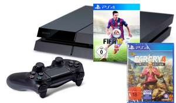 PS4 + Fifa 15 + Far Cry 4 Limited als Bundle 442,99