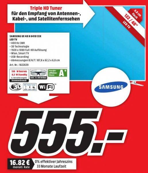 [MM Holzminden] Samsung TV UE48H6410 für 555 Euro