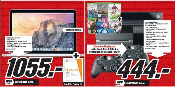 (Lokal Media Markt Heppenheim) Xbox One Mega Paket für 444€