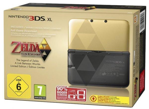 Nintendo 3DS XL Gold inkl. Zelda: A Link Between 192€ @Amazon