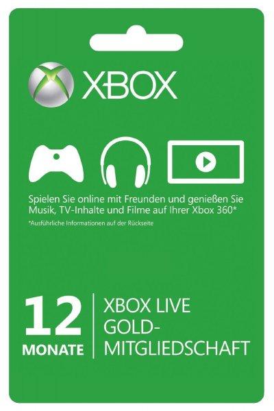 Xbox one 1 jahr gold mitgliedschaft