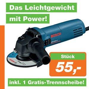 [Ebay] Bosch Blau GWS850C Winkelschleifer mit Trennscheibe inkl. Versand für  55 Euro !