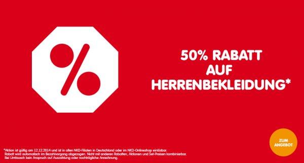 NKD 50% auf Herren- und Kinderbekleidung + 5 Euro Gutschein